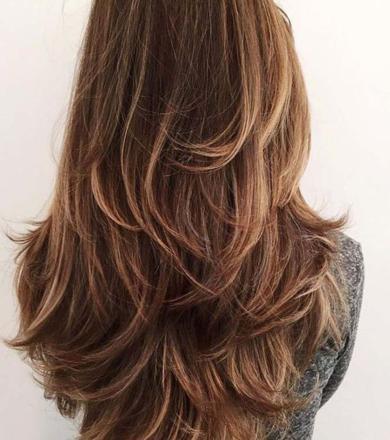 coiffure dégradé cheveux long